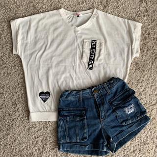 ピンクラテ(PINK-latte)のピンクラテ Tシャツ ショートパンツ M コーデセット (Tシャツ/カットソー)