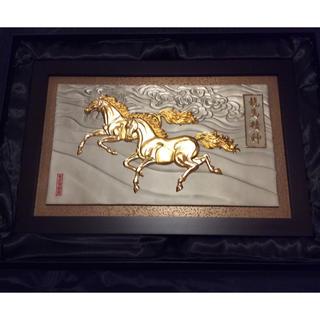 ROYAL SELANGOR Horses & Clouds Plaque飾り額(絵画額縁)