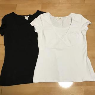 エイチアンドエム(H&M)のH&M ナーシングTシャツ 2枚セット(マタニティトップス)