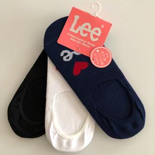 リー(Lee)の新品 Lee リー ソックス 3足組 靴下 フットカバー(ソックス)