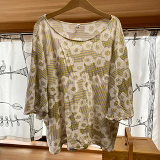 ミナペルホネン(mina perhonen)のミナペルホネン  カットソー 38(Tシャツ(半袖/袖なし))
