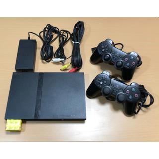プレイステーション(PlayStation)のPlayStation2本体とソフト3本(家庭用ゲーム機本体)