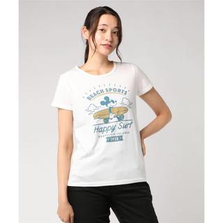 ディズニー(Disney)の新品未開封 【ディズニー】半袖ビーチスポーツプリントTシャツ(ミッキーマウス)(Tシャツ(半袖/袖なし))
