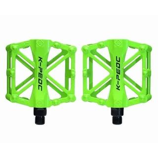 新品 アルミペダル 左右セット グリーン 緑 自転車 HAMMARS 【バルク品(パーツ)