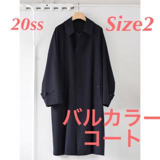 コモリ(COMOLI)のcomoli 20ss ウールギャバ バルカラーコート Size2 (ステンカラーコート)