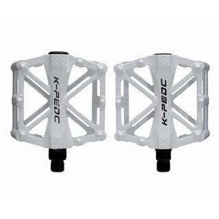 新品 アルミペダル 左右セット ホワイト 白 自転車 HAMMARS 【バルク品(パーツ)