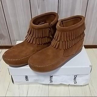 ミネトンカ(Minnetonka)の新品 ミネトンカ キッズフリンジショートブーツ 20センチ(ブーツ)