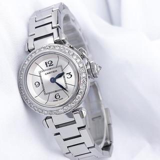 Cartier - 【OH済】カルティエ パシャ シルバー ダイヤ レディース 腕時計