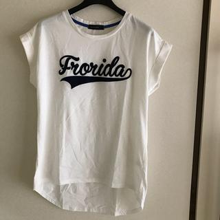 シマムラ(しまむら)のしまむら 白Tシャツ ロゴあり(Tシャツ(半袖/袖なし))
