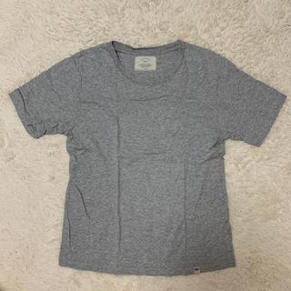 アングリッド(Ungrid)のUngrid アングリッド Tシャツ グレー サークルネック コットン(Tシャツ(半袖/袖なし))