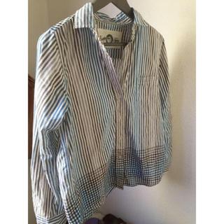 チャオパニックティピー(CIAOPANIC TYPY)のストライプ×ギンガムチェックシャツ(シャツ/ブラウス(長袖/七分))
