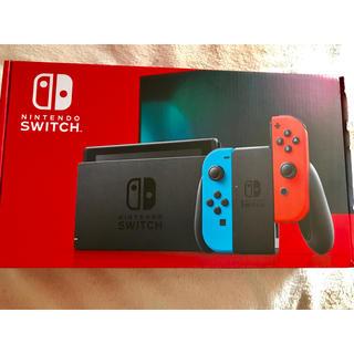 ニンテンドースイッチ(Nintendo Switch)の中古 switch ネオン 箱傷あり(家庭用ゲーム機本体)