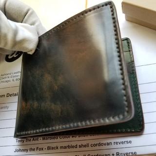 シェルコードバン ワイルドスワンズ ガンゾ ganzo 土屋鞄 財布 ポーター(折り財布)