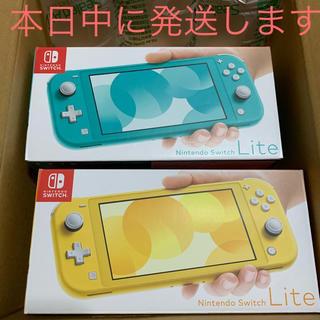 ニンテンドースイッチ(Nintendo Switch)のNintendo Switch  Lite  ターコイズ イエロー(携帯用ゲーム機本体)