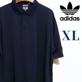 アディダス(adidas)のadidas アディダス ビッグサイズ ポロシャツ  XL ネイビー(ポロシャツ)