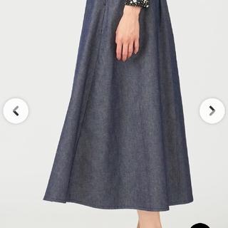 エニィスィス(anySiS)のオンワード樫山 anySiS  デニム風スカート(ロングスカート)