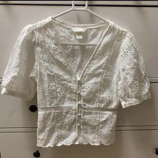 エイチアンドエイチ(H&H)のコットンブラウス H&M(シャツ/ブラウス(半袖/袖なし))