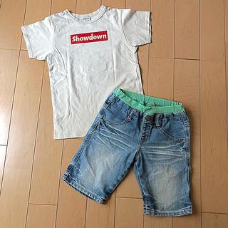 ブリーズ(BREEZE)のBREEZE☆Tシャツ&デニムハーフパンツ!130cm140cm☆ジャンクストア(パンツ/スパッツ)