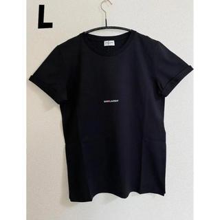 サンローラン(Saint Laurent)の20SS【新品】SAINT LAURENT サンローラン ロゴTシャツ L 黒(Tシャツ/カットソー(半袖/袖なし))