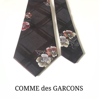 コムデギャルソン(COMME des GARCONS)の☆極美品 試着程度☆コム・デ・ギャルソン 花柄ネクタイ(ブラウン)(ネクタイ)