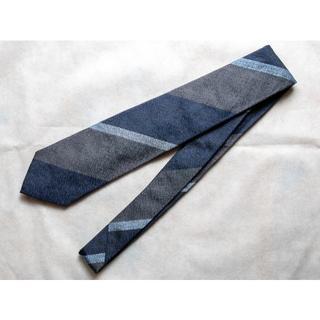 ビームス(BEAMS)の着用1回 シーワード&スターン レジメンタル ネクタイ ネイビー(ネクタイ)