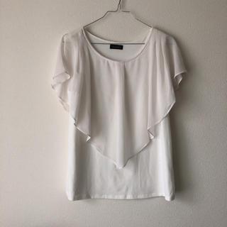 エゴイスト(EGOIST)のエゴイスト 新品 シフォン フリル Tシャツ(Tシャツ(半袖/袖なし))