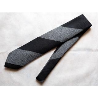 ニッキー(NICKY)の試着のみ ニッキー ブロック ストライプ ウール ネクタイ ブラック/グレー(ネクタイ)