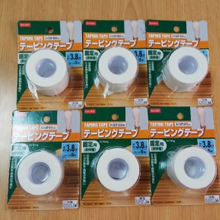 (新品・未使用品)テーピングテープ 固定用(非伸縮)6個セット(トレーニング用品)