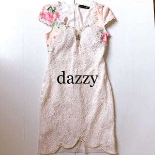 デイジーストア(dazzy store)のdazzy キャバドレス ビジューレースドレス ゴージャス(ナイトドレス)
