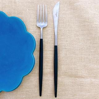 イッタラ(iittala)の新品未使用 Cutipol クチポール デザートナイフ+デザートフォーク2本(カトラリー/箸)