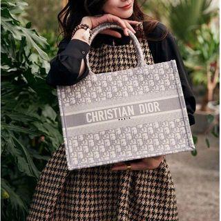 Christian Dior - ディオール ブックトート スモール バッグ グレー