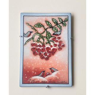 アラビア(ARABIA)の舞い落ちる雪の結晶 2002年 ヘルヤ 陶板画 アラビア イッタラ(置物)