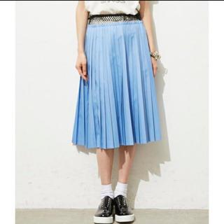 トーガ(TOGA)の美品 トーガ toga 細プリーツ メッシュ スカート (ひざ丈スカート)