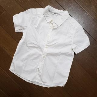 エイチアンドエム(H&M)のH&M 白シャツ 90(ブラウス)