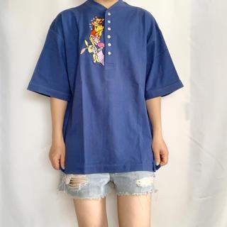 ディズニー(Disney)のVintage 90s POOH 刺繍TEE(Tシャツ/カットソー(半袖/袖なし))