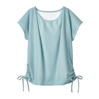 ベルメゾン(ベルメゾン)のカップ付きブラウス風 Tシャツ ミント M トップス 重ね着 インナー シャツ(シャツ/ブラウス(半袖/袖なし))