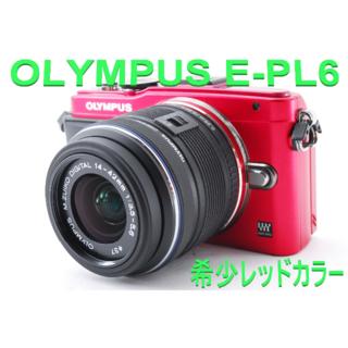 オリンパス(OLYMPUS)の❤4000円相当おまけ付き♪WiFiカード付き❤オリンパス E-PL6(デジタル一眼)