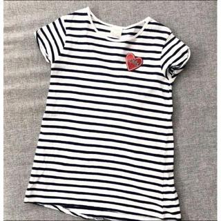 ザラキッズ(ZARA KIDS)のザラ キッズ Tシャツ ハート ボーダーTシャツ 120(Tシャツ/カットソー)