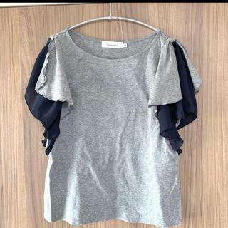 クチュールブローチ(Couture Brooch)のクチュールブローチcouture brooch◆袖フリルTシャツ◆36(Tシャツ(半袖/袖なし))