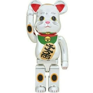 メディコムトイ(MEDICOM TOY)の新品 BE@RBRICK 招き猫 銀メッキ 弐 1000%(その他)