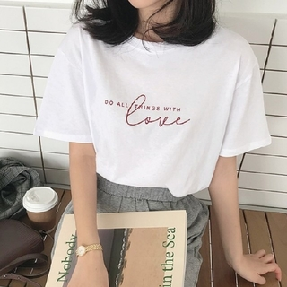 dholic - 【即納】ラブ ロゴ Tシャツ