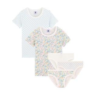 PETIT BATEAU -  2020ss プチバトー プリント半袖Tシャツ2枚組&ショーツ3枚組_FL