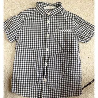 エイチアンドエム(H&M)のH&M ギンガムチェックシャツ 110(ブラウス)