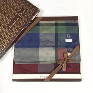 クリスチャンディオール(Christian Dior)のquiji様専用 未使用品 クリスチャンディオール ハンカチ三枚セット(ハンカチ/ポケットチーフ)