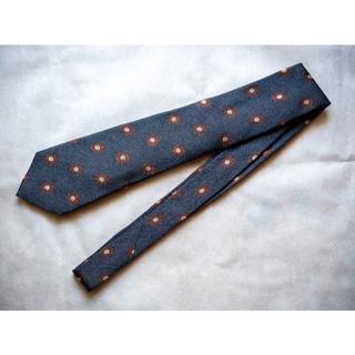 フランコバッシ(FRANCO BASSI)の極美品 フランコバッシ 小紋柄ネクタイ ネイビー(ネクタイ)