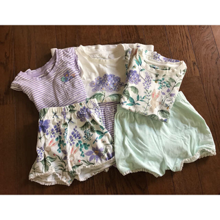 NEXT - 夏用キッズパジャマ3枚セット+麦わら帽子♡女の子♡100cm
