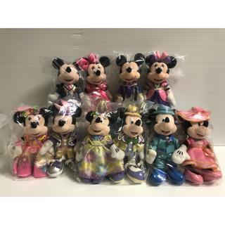 ミッキーマウス(ミッキーマウス)のディズニー ぬいぐるみバッジ ミッキー&ミニー ペア  まとめて 5組(10体)(キャラクターグッズ)