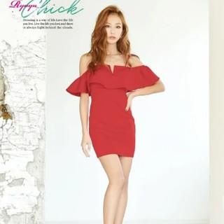 デイジーストア(dazzy store)の美品 ドレス キャバ ワンピース レッド タイト(ミニドレス)