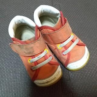 ムーンスター(MOONSTAR )のmoonstar くるめ 靴 子供 13.5センチ 赤 (スニーカー)