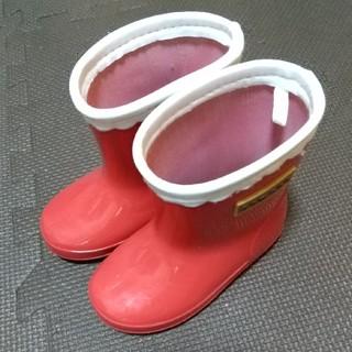 長靴 14センチ 赤 conoco 雨の日 (長靴/レインシューズ)